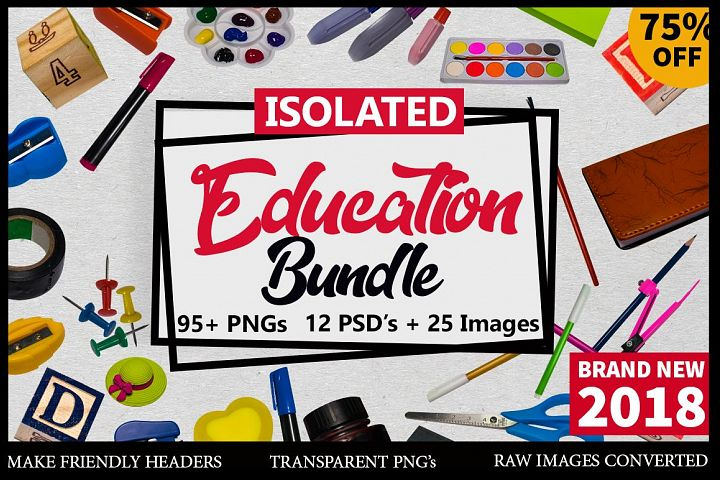 100+ Items Isolated Education Bundle 2018 75% off Limited Time offer