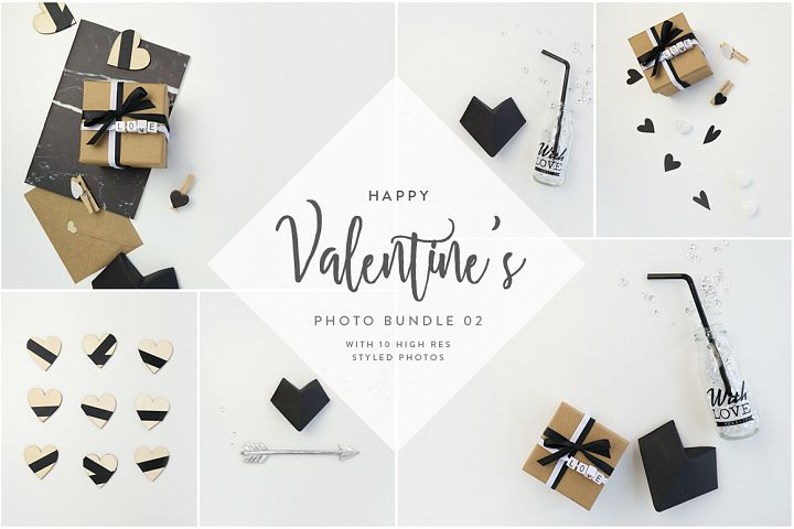 Valentines Styled Photo Bundle - Black & White