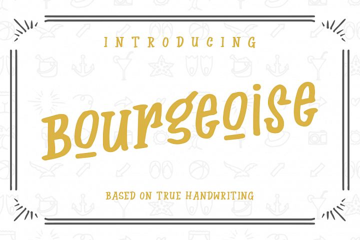 Bourgeoise - Free Font of The Week