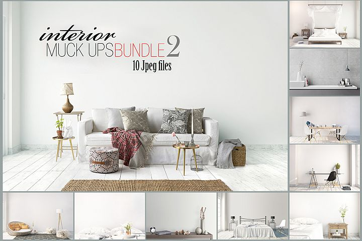 interior mockups bundle, stock photo