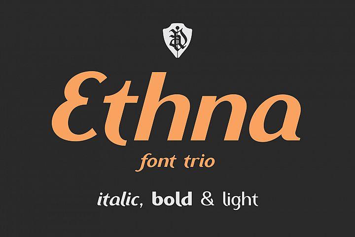 Ethna font trio
