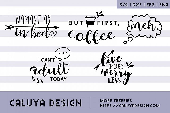 Cheer Up & Relax, SVG Quotes Bundle example 1
