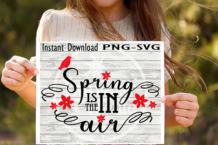 Spring Is In The Air SVG PNG Cricut Cameo Silhouette Brother Scan & Cut Crafters Cutting Files for Vinyl Cutting Sign Making