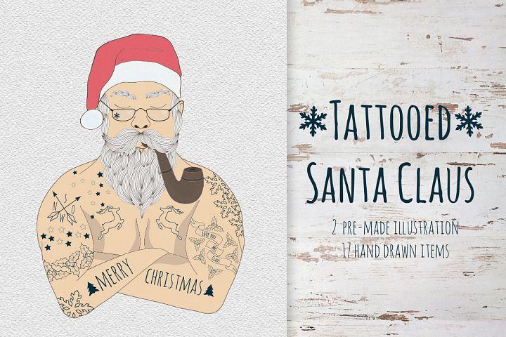 Tattooed Santa Claus