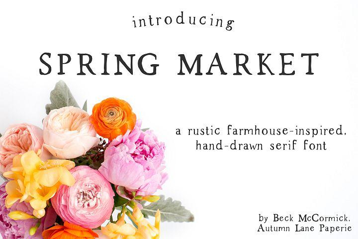 Spring Market - Rustic Serif Font