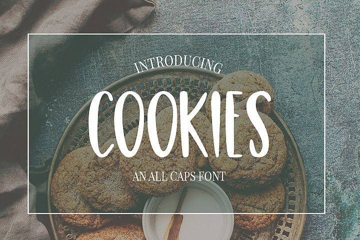 Cute, Casual, Handwritten font COOKIES - Free Font of The Week