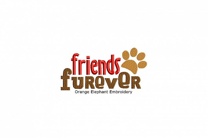 Friends Furever Unique Urban Machine Embroidery Design digital File