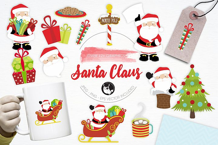 Santa Claus graphics and illustrations