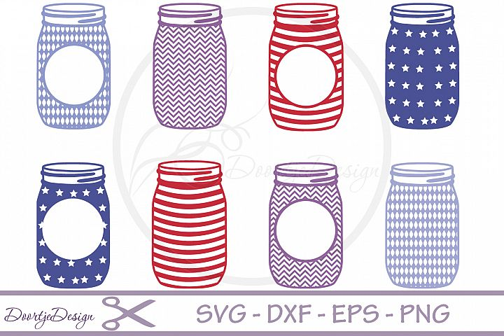 Mason Jar SVG 8 cutting files