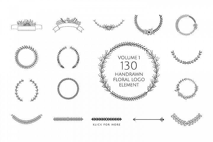 130 Handrawn Elements