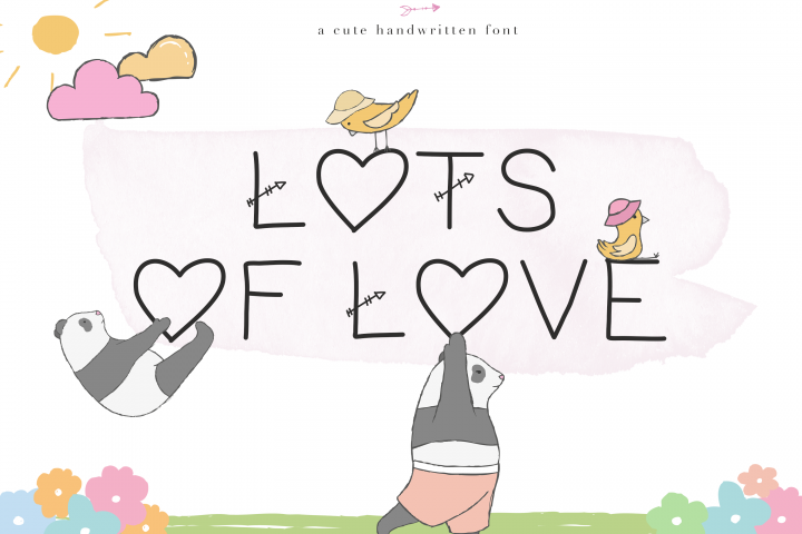 Lots of Love - A Cute Handwritten Font