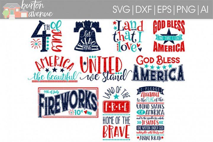 Patriotic SVG Bundle-cut files for Cricut, Silhouette