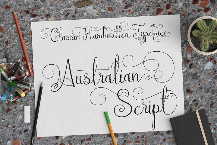 Australian Script - Free Font of The Week Font