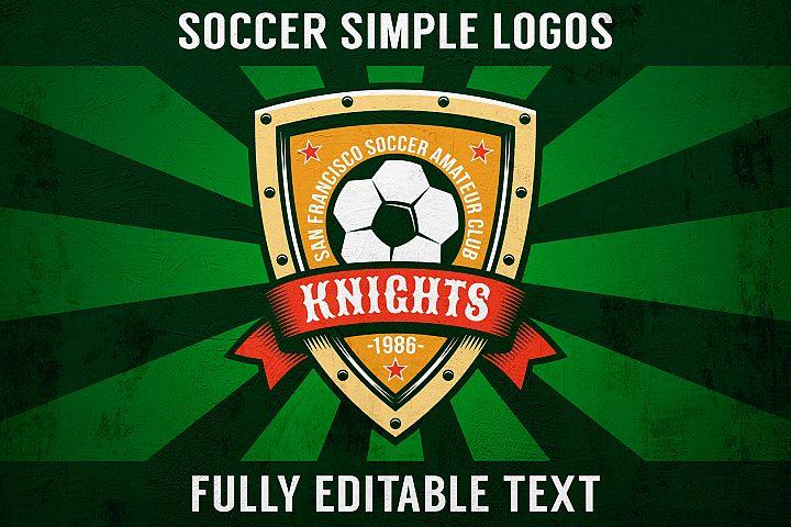 Soccer Simple Logo Set
