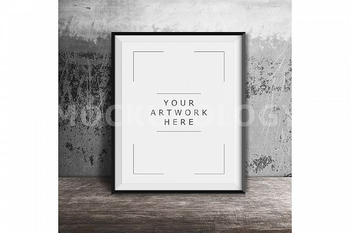 8x10 16x20 24x30 Vertical DIGITAL Black Frame Mockup, Styled Photography Poster Mockup, Grey Background, Framed Art, INSTANT DOWNLOAD