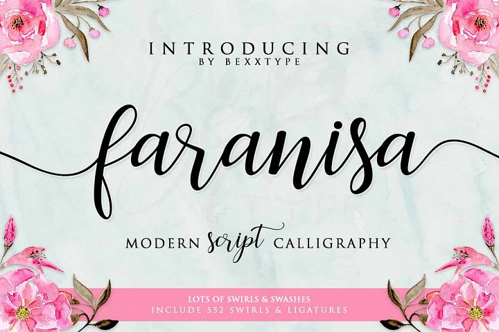 Faranisa Script - Free Font of The Week