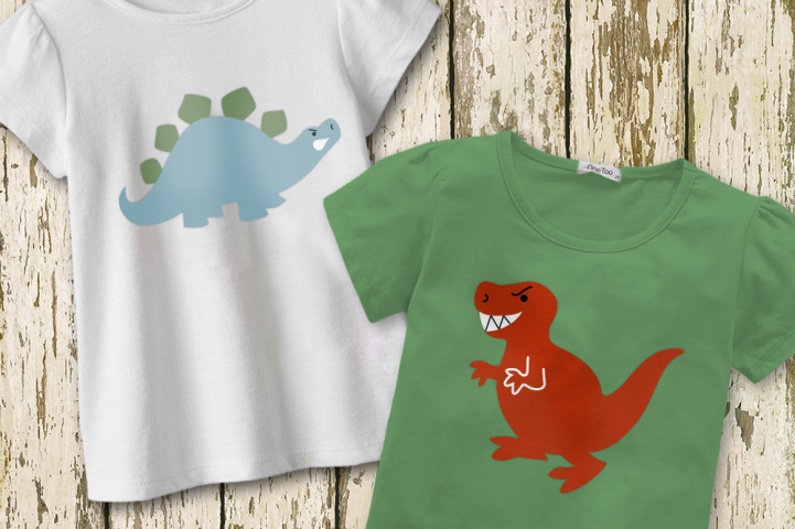 Angry Dinosaur Duo SVG File Cutting Template