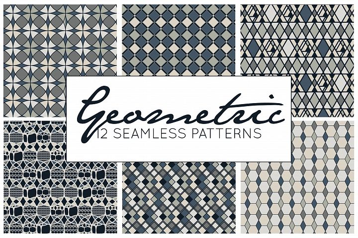 Geometric Patterns Vector - Black and White