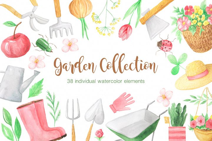 Watercolor Garden Set