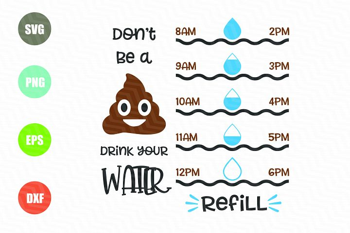 Water Tracker SVG File