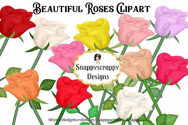 Rose Clipart Set