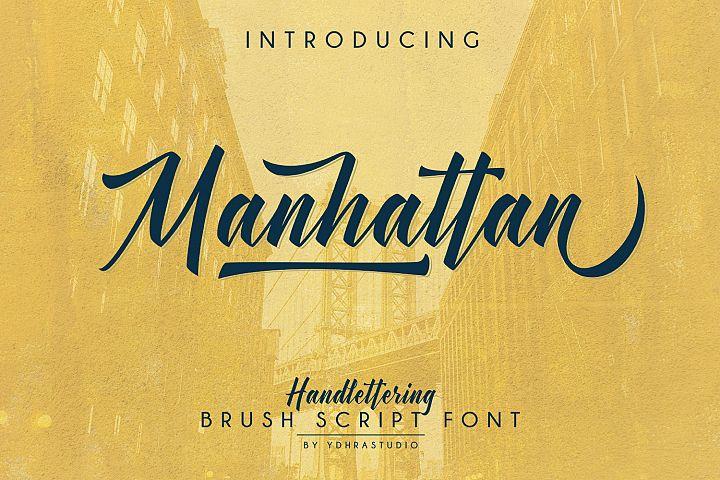 Manhattan Brush Script Font + Swash