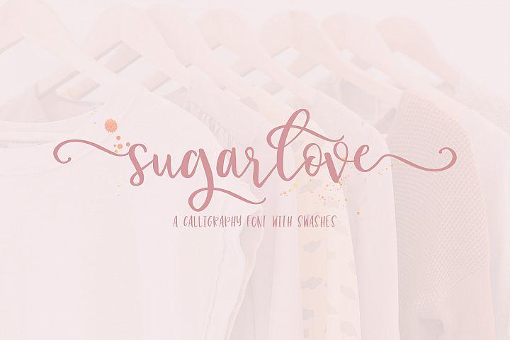 Sugarlove Bounce Calligraphy Font