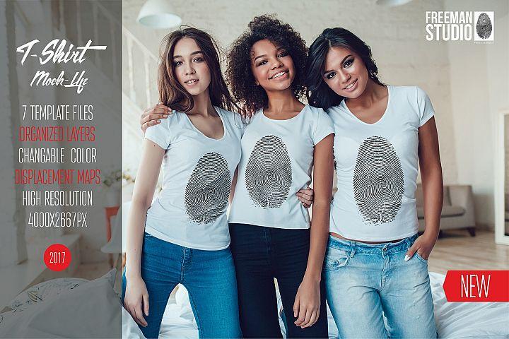 Womens T-Shirts Mock-Up Vol.1 2017