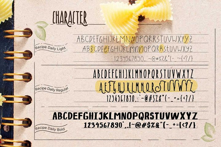 Recipe Daily - Free Font of The Week Design 1