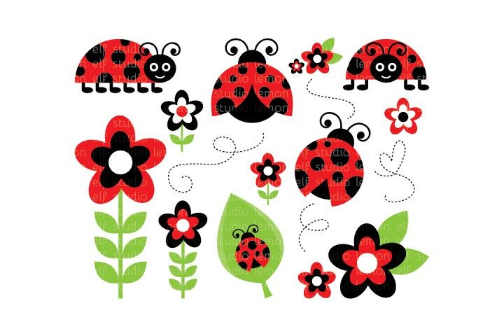 Lady Bugs-Digital Clipart (LES.CL09A)