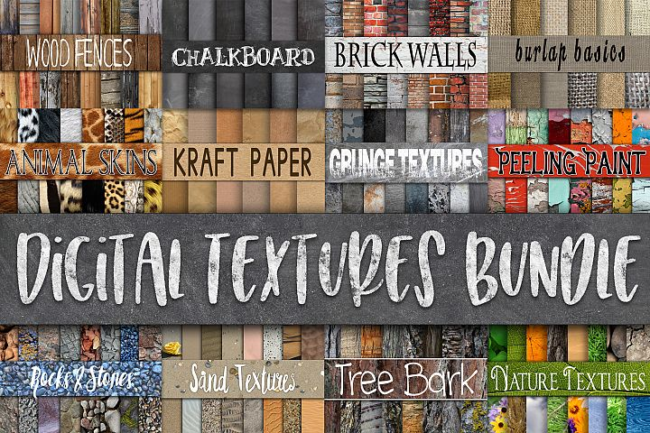 Digital Textures Bundle - Includes 180 Digital Papers