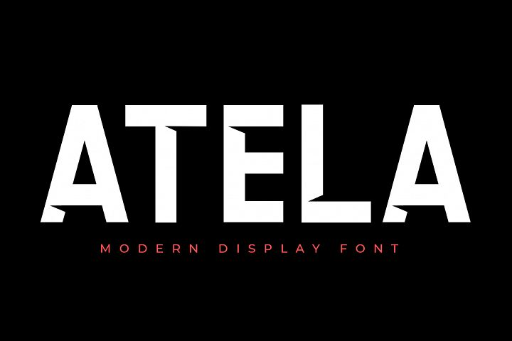 ATELA - Display Sans Serif