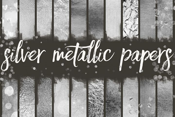 Silver Metallic Seamless Patterns