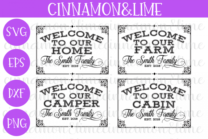 Welcome to Our Home, Farm, Camper Cabin Bundle SVG
