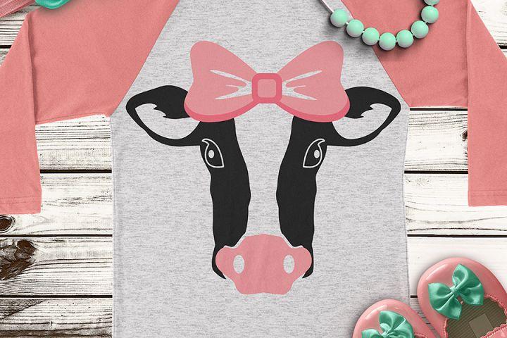Cow Heifer Farm Life Animal Cute Kids Girls SVG DXF PNG Cut File Cricut Silhouette Cameo Clip Art Htv Die Cutting Heat Transfer Vinyl
