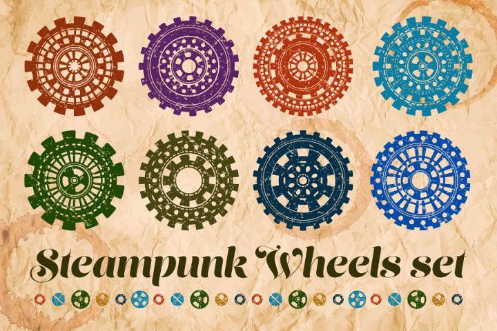 Steampunk wheels set