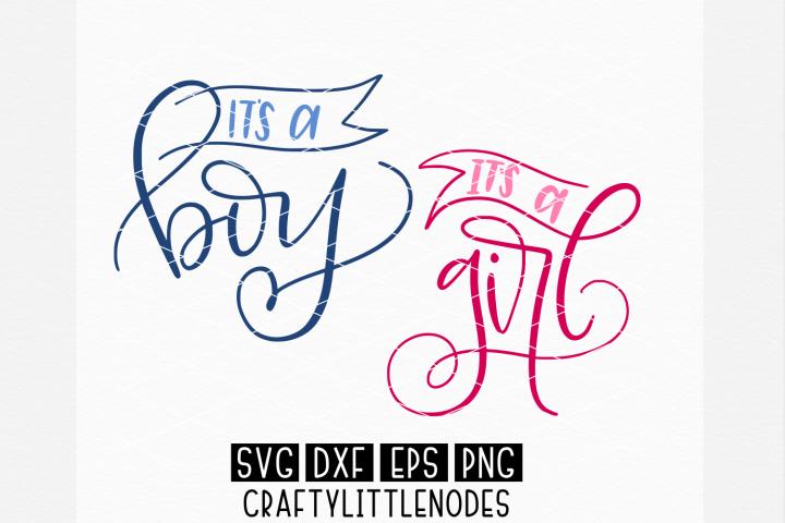 Gender Reveal, Hand Lettered, Svg