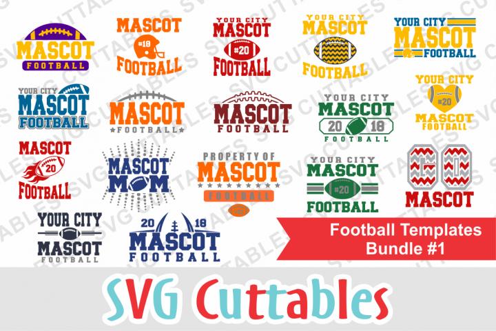 Football Bundle #1, svg cut files