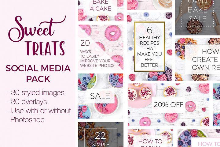 Social Media Pack - Sweet Treats