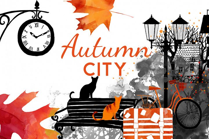 Romantic autumn city