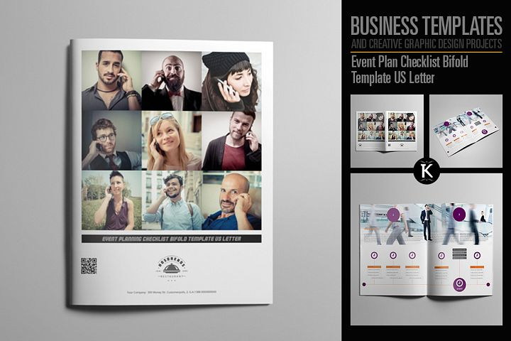 Event Plan Checklist Bifold Template US Letter