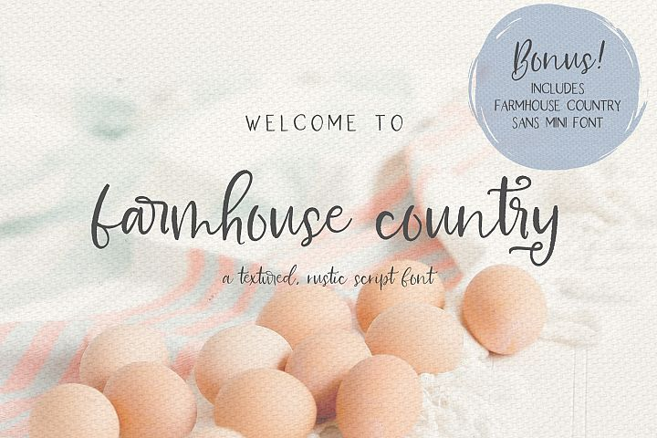 Farmhouse Country Rustic Cursive Font