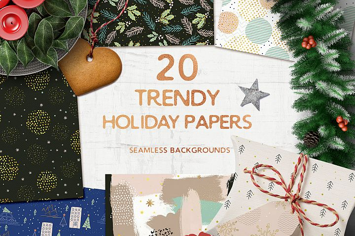 Trendy Seamless Holiday Papers