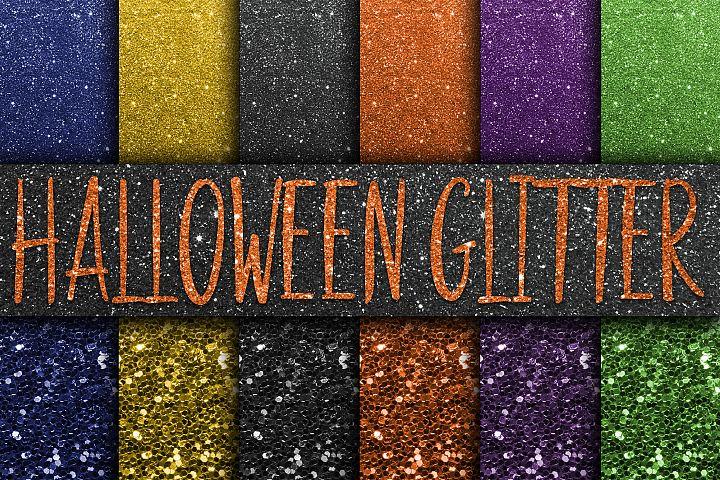 Halloween Glitter Digital Paper Textures