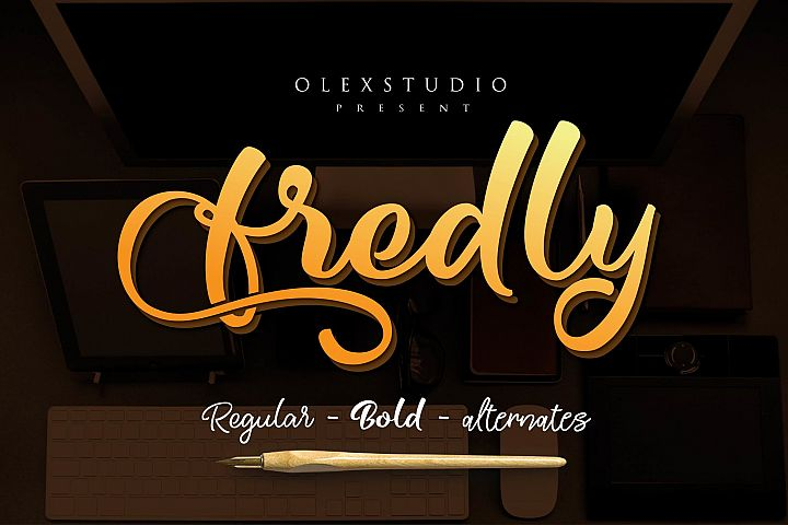 Fredly Modern Typeface - Free Font of The Week