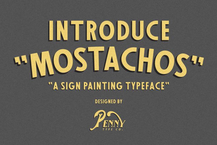 Mostachos Font