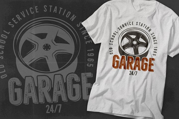 Garage - Car Service Emblem / Retro Logo