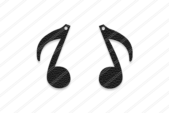 Music note earrings svg ,  Jewelry svg, leather jewelry, Cricut silhouette, Earrings vector,Modern earrings-svg,dxf,ai,eps,png,pdf
