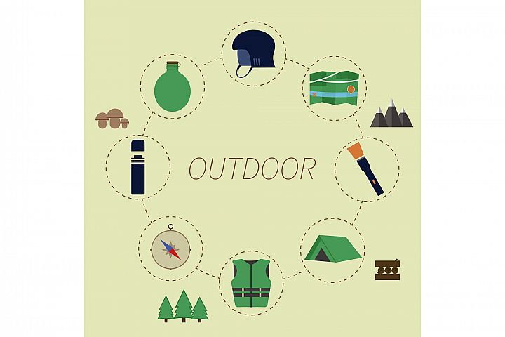 Outdoor Adventure Infographics example 1