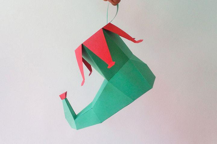 DIY Elf Shoe - 3d papercraft